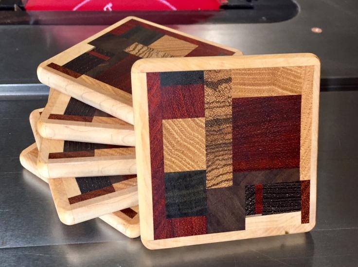 Scrap Wood Drink Coasters