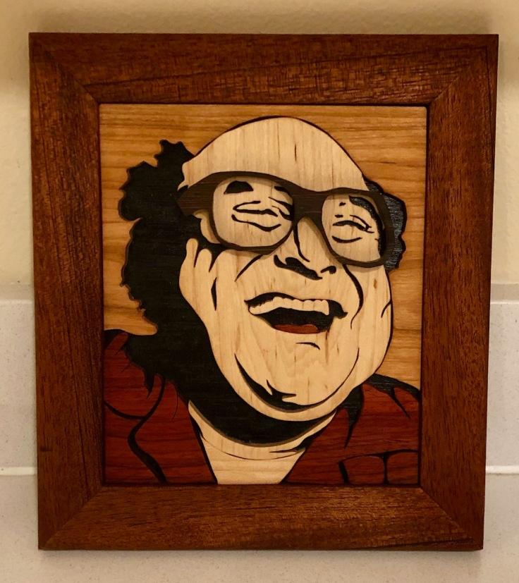 Danny DiVito Woodcut